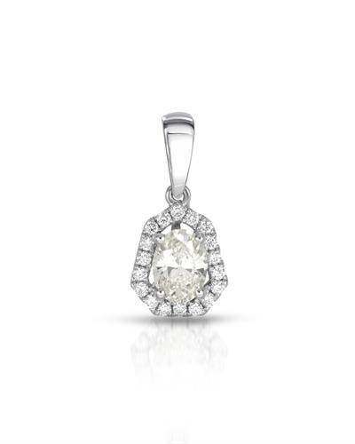 Julius Rappoport Brand New Pendant with 0.63ctw of Precious Stones - diamond and diamond ctr 18K White gold