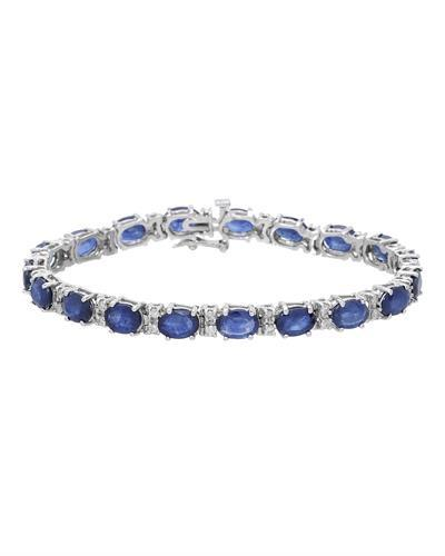 Brand New Bracelet with 21ctw of Precious Stones - diamond and sapphire 14K White gold