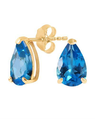 Magnolia Brand New Earring with 3.15ctw topaz 14K Yellow gold