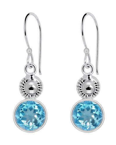 Brand New Earring with 4.85ctw topaz 925 Silver sterling silver