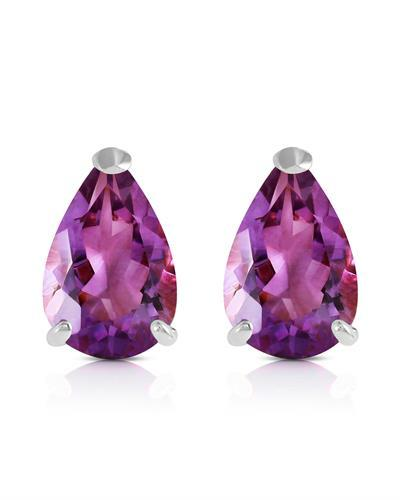 Magnolia Brand New Earring with 3.15ctw amethyst 14K White gold