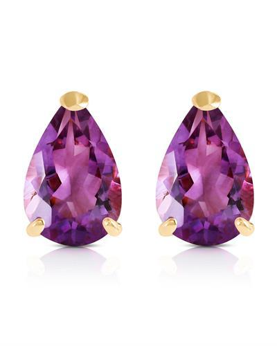 Magnolia Brand New Earring with 3.15ctw amethyst 14K Yellow gold