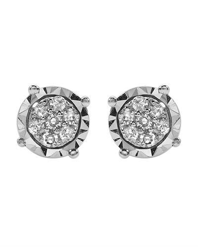 Brand New Earring with 0.11ctw diamond 925 White sterling silver