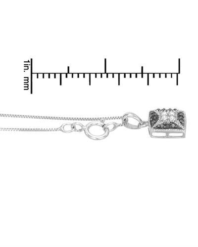 Brand New Necklace with 0.12ctw of Precious Stones - diamond and diamond 925 Silver sterling silver