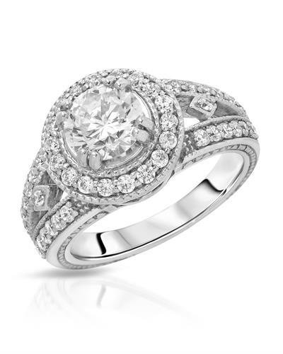 Brand New Ring with 2.3ctw of Precious Stones - cubic zirconia and cubic zirconia 925 Silver sterling silver