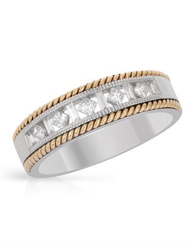 Brand New Ring with 0.32ctw diamond 14K Two tone gold