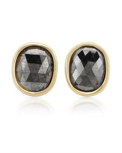 Brand New Earring with 2ctw diamond 14K Yellow gold