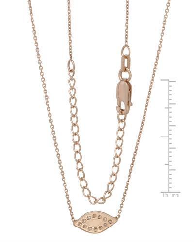 Millana Brand New Necklace with 0ctw cubic zirconia  Three tone Enamel and 14K Rose gold