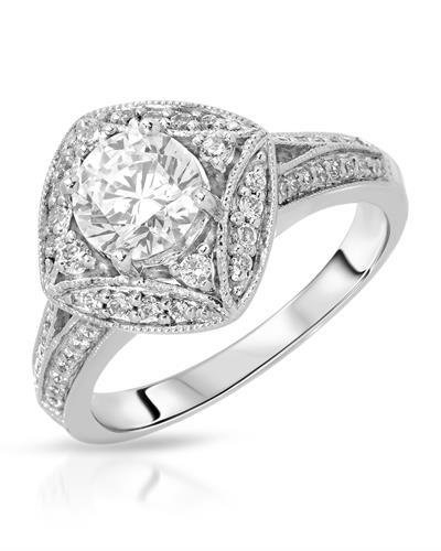 Brand New Ring with 1.9ctw of Precious Stones - cubic zirconia and cubic zirconia 925 Silver sterling silver
