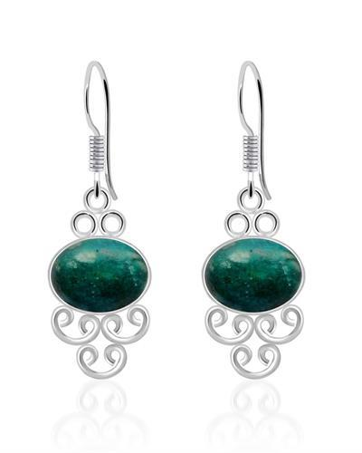 Brand New Earring with 8ctw amazonite 925 Silver sterling silver