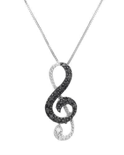 Brand New Necklace with 0.11ctw of Precious Stones - diamond and diamond 925 Silver sterling silver