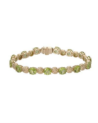 HELLMUTH Brand New Bracelet with 21.42ctw peridot 18K Rose gold