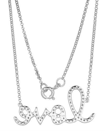 Brand New Necklace with 0.33ctw diamond 14K White gold