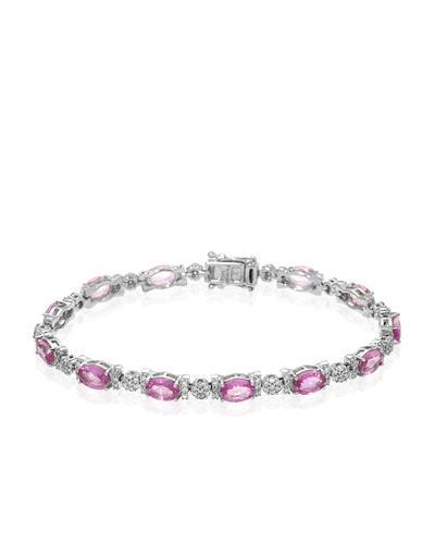 Michael Christoff Brand New Bracelet with 12.67ctw of Precious Stones - diamond and sapphire 14K White gold