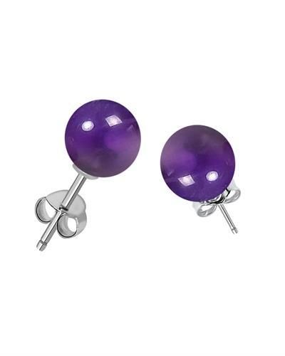 Brand New Earring with 7ctw amethyst 925 Silver sterling silver
