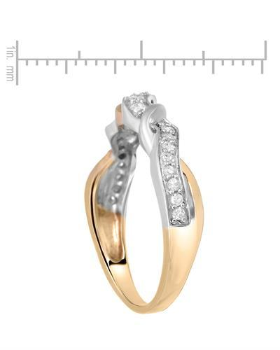 Brand New Ring with 0.2ctw diamond 10K Two tone gold