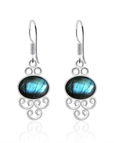 Brand New Earring with 8.2ctw labradorite 925 Silver sterling silver