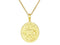 SeChic Brand New Taurus Oval Pendant in 14K Gold Plated Silver