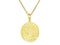 SeChic Brand New Virgo Oval Pendant in 14K Gold Plated Silver