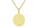 SeChic Brand New Scorpio Oval Pendant in 14K Gold Plated Silver