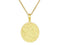 SeChic Brand New Capricon Oval Pendant in 14K Gold Plated Silver