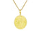 SeChic Brand New Aquarius Oval Pendant in 14K Gold Plated Silver