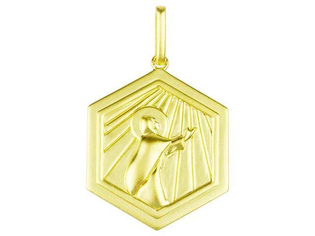 SeChic Brand New Virgin Mary Kneeling Pendant in 14K Gold Plated Silver