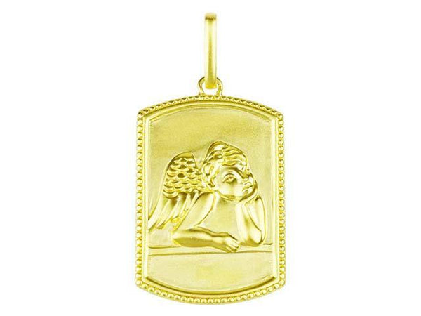 SeChic Brand New Cherub Pendant in 14K Gold Plated Silver