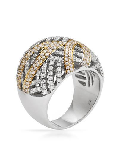Brand New Ring with 1.71ctw diamond 18K Two tone gold