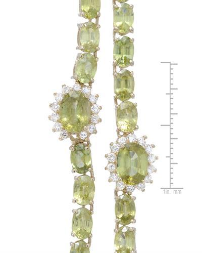 Lundstrom Brand New Necklace with 47ctw of Precious Stones - diamond and Sphene 14K Yellow gold