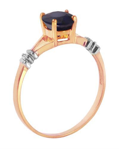 Magnolia Brand New Ring with 1.02ctw of Precious Stones - diamond and sapphire 14K Two tone gold