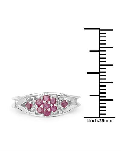 Brand New Ring with 0.41ctw ruby 925 Silver sterling silver
