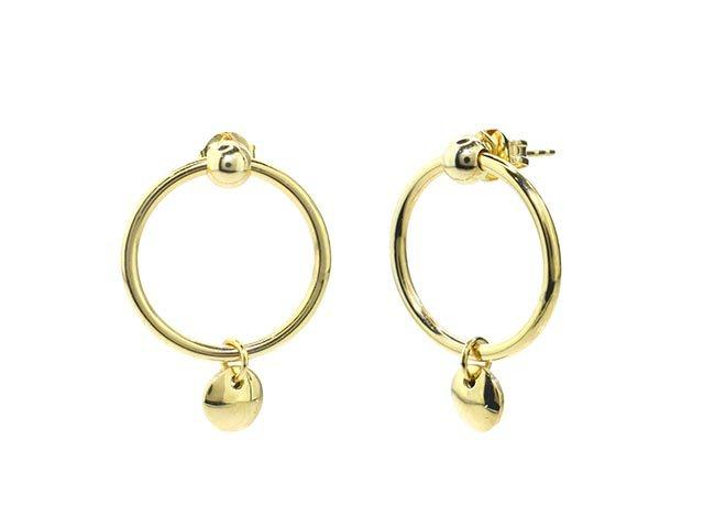 SeChic Brand New Hoop Earrings in 14K Gold Plated Silver