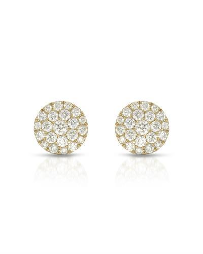 Whitehall Brand New Earring with 0.73ctw diamond 10K Yellow gold
