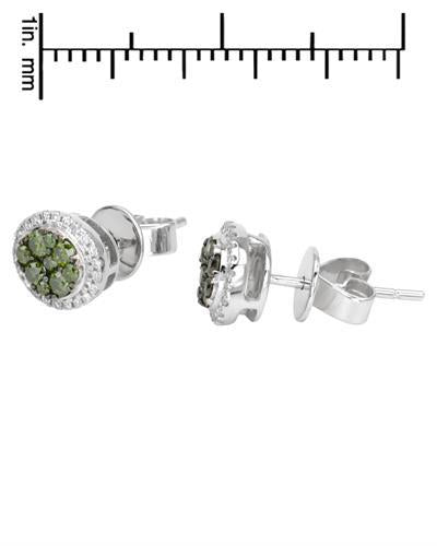Brand New Earring with 0.47ctw of Precious Stones - diamond and diamond 14K White gold