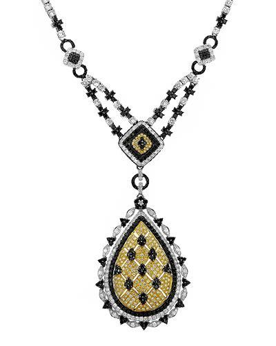 Brand New Necklace with 8.53ctw of Precious Stones - diamond, diamond, and diamond 18K Two tone gold