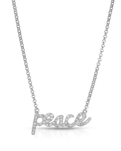 Brand New Necklace with 0.17ctw diamond 14K White gold