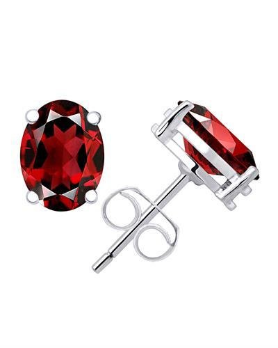 Brand New Earring with 3ctw garnet 925 Silver sterling silver