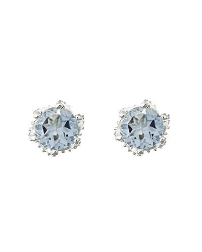Brand New Earring with 0.82ctw aquamarine 925 Silver sterling silver