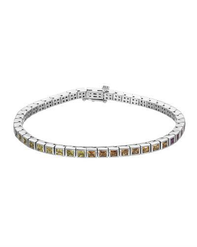 Brand New Bracelet with 6.26ctw sapphire 14K White gold