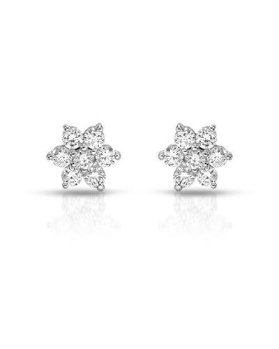 Julius Rappoport Brand New Earring with 0.35ctw diamond 18K White gold
