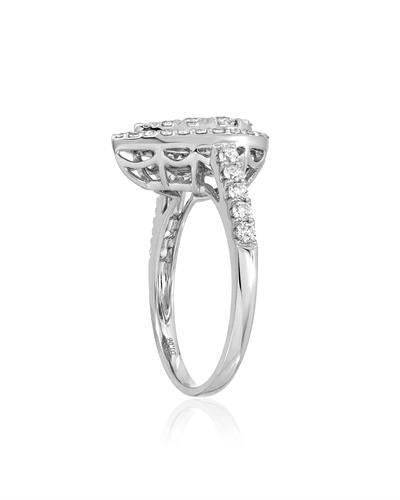 Julius Rappoport Brand New Ring with 1.06ctw diamond 18K White gold