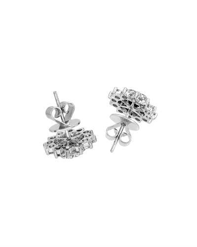 Julius Rappoport Brand New Earring with 2.15ctw diamond 18K White gold