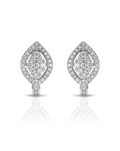 Julius Rappoport Brand New Earring with 0.48ctw diamond 18K White gold