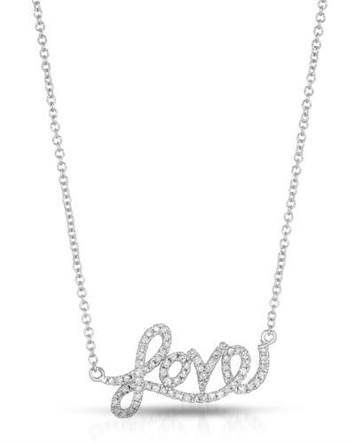 Brand New Necklace with 0.24ctw diamond 14K White gold