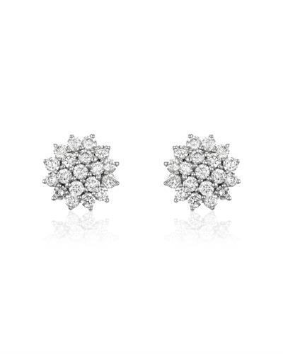 Julius Rappoport Brand New Earring with 0.98ctw diamond 18K White gold