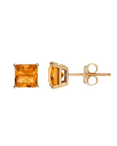 Brand New Earring with 1.2ctw citrine 14K Yellow gold