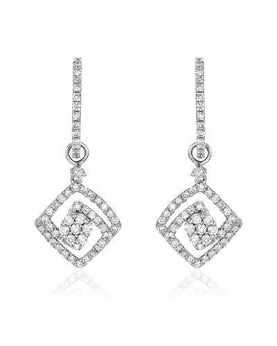 Whitehall Brand New Earring with 1.07ctw diamond 18K White gold