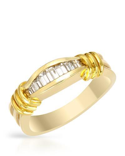 Brand New Ring with 0.45ctw diamond 18K Yellow gold