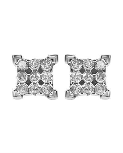Brand New Earring with 0.25ctw diamond 925 White sterling silver